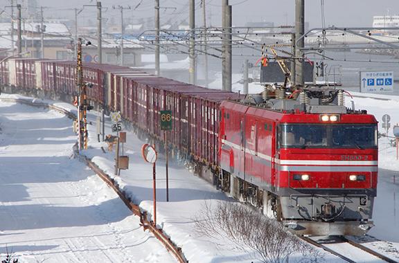 JR貨物の電気機関車にも部品を納入しています